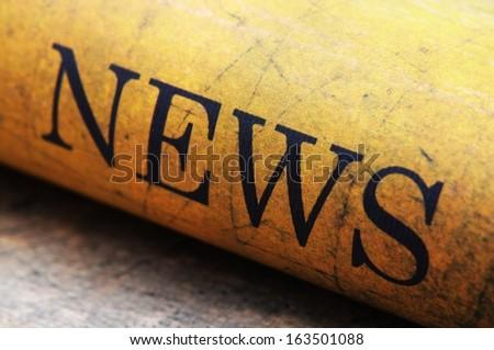 News text on grunge background - stock photo