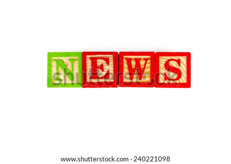 News word on white background - stock photo