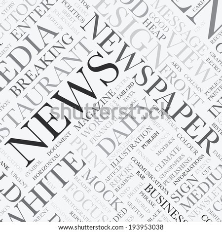News word tag cloud illustration texture background - stock photo