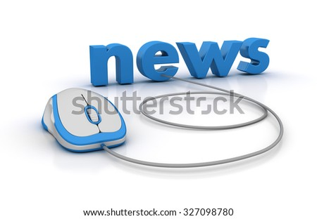 NEWS Word with Computer Mouse - High Quality 3D Render
