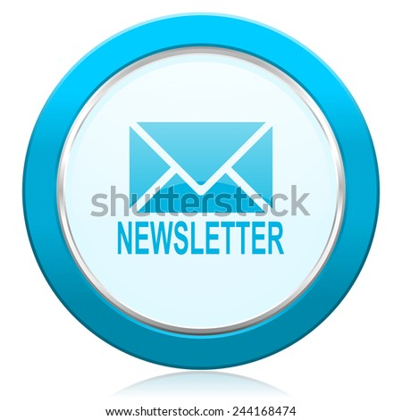newsletter icon   - stock photo