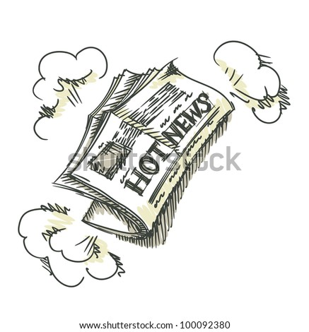 Newspaper. - stock photo