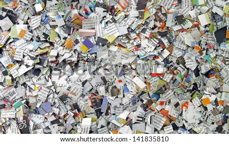 Newspaper background - stock photo