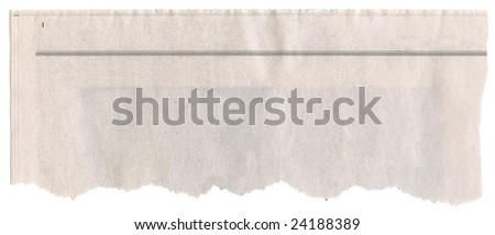 Newspaper clipping - stock photo