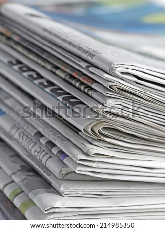 Newspaper close  up - stock photo