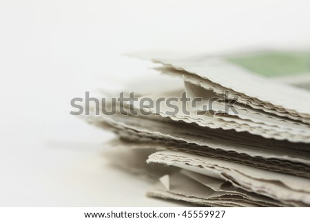 Newspaper colse-up - stock photo