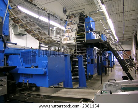 newspaper printing factory