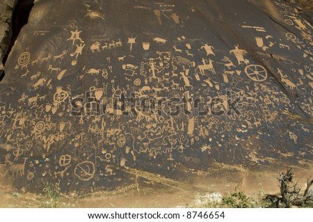 Newspaper Rock Recreation Site - near Canyonlands National Park, Utah