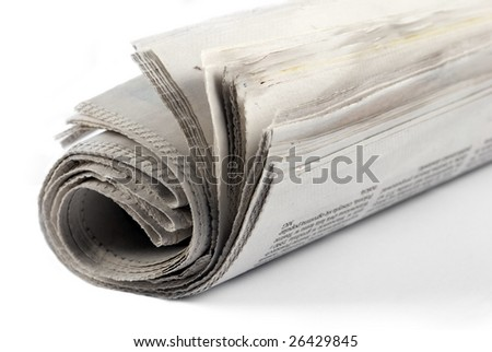newspaper roll - stock photo