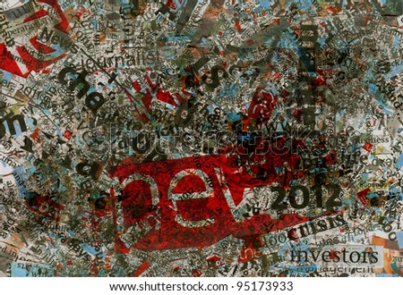 Newspaper's words background texture. Very dirty design, damaged picture. Great for modern design!