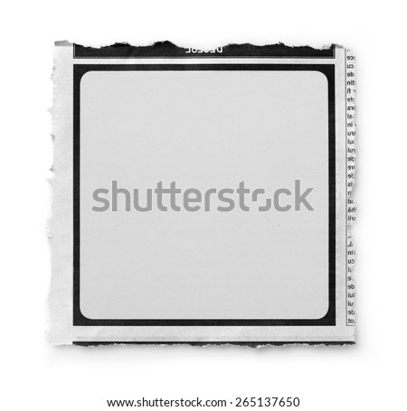 Newspaper section - stock photo