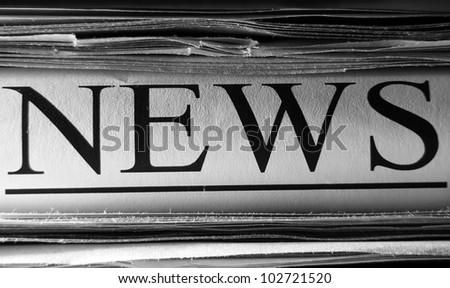 Newspaper. Selective focus. - stock photo