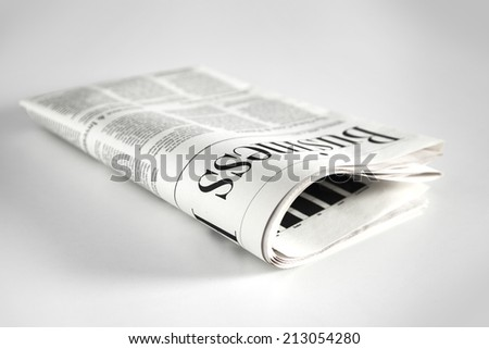 Newspaper with white background
