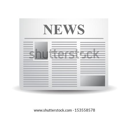 Newspaper xxl icon isolated on white background. - stock photo