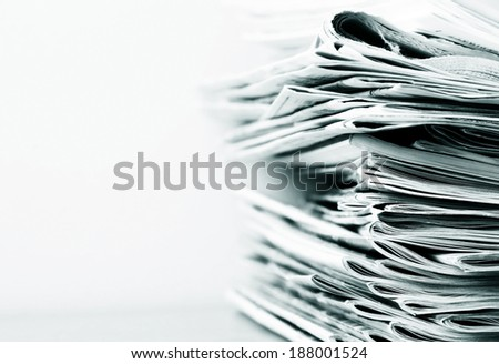 newspapers and magazines - stock photo
