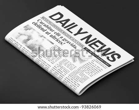 Newspapers on dark background - stock photo
