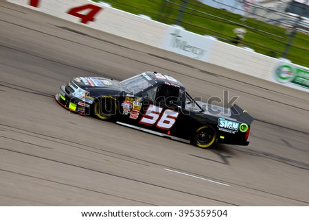 Newton Iowa, USA - July 11, 2014: NASCAR Camping World Truck Series, American Ethanol 200. Iowa Speedway. 56 Raymond Terczak Jr., Chevrolet, Terczak Racing - stock photo