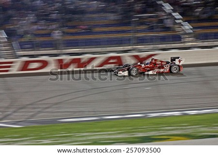 Newton Iowa, USA - July 12, 2014: Verizon Indycar Series Iowa Corn 300 on track racing action. 9 Scott Dixon Target Chip Ganassi Racing Chevrolet