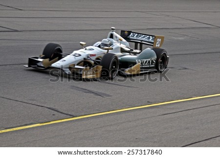 Newton Iowa, USA - July 11, 2014: Verizon Indycar Series Iowa Corn 300 practice and qualifying action. 20 Ed Carpenter Fuzzy's Vodka/Ed Carpenter Racing Chevrolet