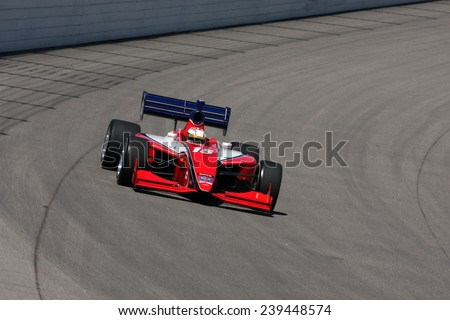 Newton, Iowa USA - June 20, 2009: Iowa Speedway, Indy Lights Miller Lite 100 race. Close action for the ladder series of Indycar. Panther Racing 15 United Kingdom Martin Plowman