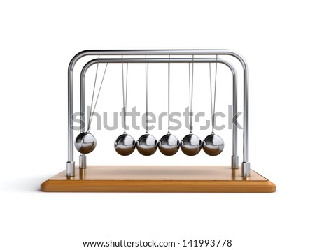 newton's cradle - stock photo