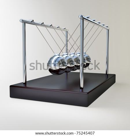 Newton's cradle, business relations concept - stock photo