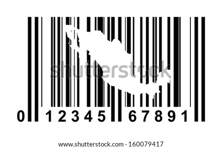 Nexico shopping bar code isolated on white background.