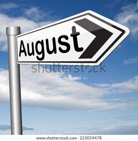 next august summer month