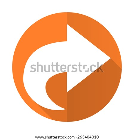 next orange flat icon arrow sign  - stock photo