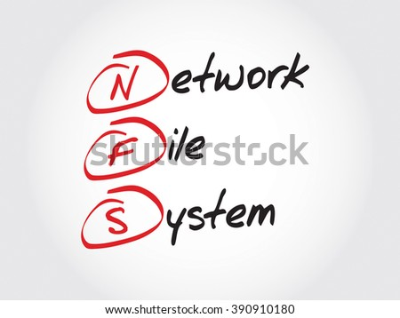 NFS Network File System, acronym concept - stock photo