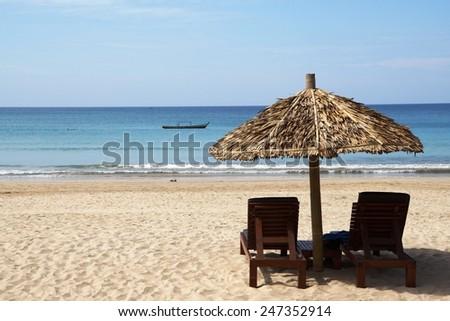 Ngapali Beach holiday, Myanmar       - stock photo
