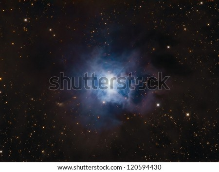 NGC7023 Iris Nebula - stock photo