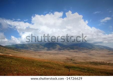 Ngorongoro Crater - stock photo