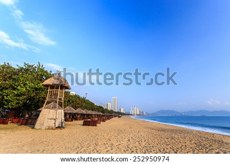 Nha Trang City Beach, Vietnam. Early Morning