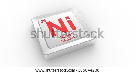 Ni symbol 28 material for Nickel chemical element of the periodic table  - stock photo