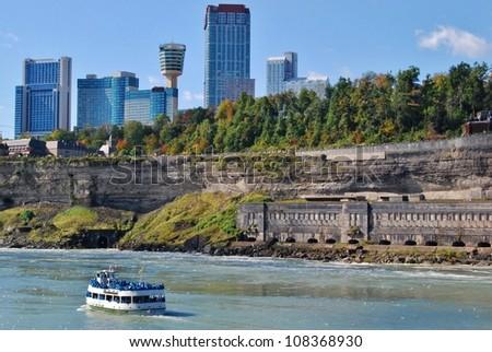 Niagara Falls ,and Maid of the Mist, Canada - stock photo