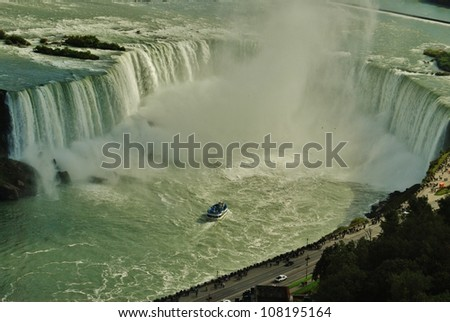 Niagara Falls, and Maid of the Mist Tour, USA - stock photo