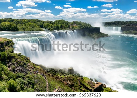 Where is Niagara Falls located in the United States?