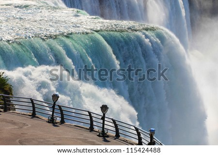Niagara falls binoculars - stock photo
