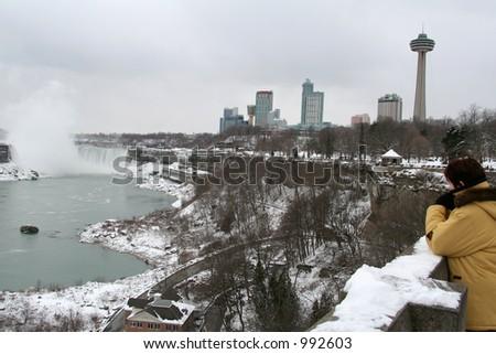 Niagara Falls City Scape - stock photo
