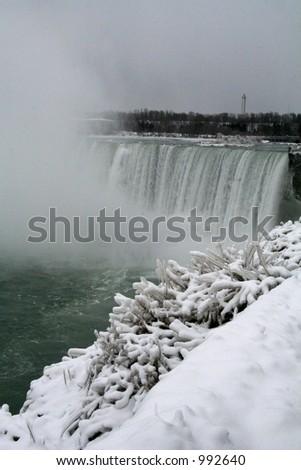 Niagara Falls Icey Plants - stock photo