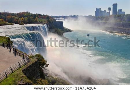 Niagara Falls in autumn - stock photo
