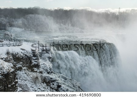 Niagara Falls in winter, NY, USA