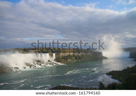 Niagara falls panoramic, view from Canadian side