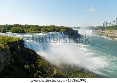 Niagara Falls viewed from US side - stock photo