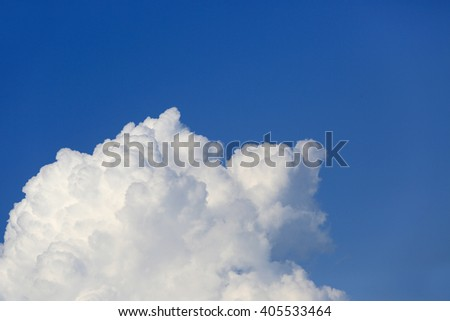 Nice abstract white clouds in sky - stock photo