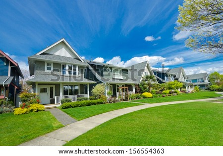 Neighborhood houses stock images royalty free images for Nice houses in canada
