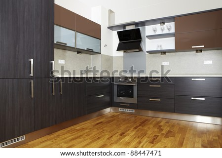 Nice and modern kitchen - stock photo