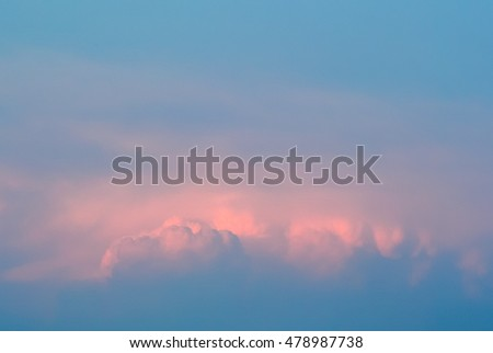 Nice and soft colorful clouds in blue sky