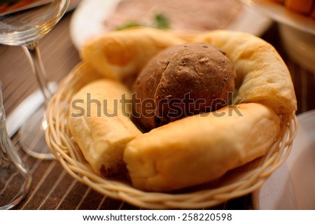 nice and tasty bread and very fresh - stock photo